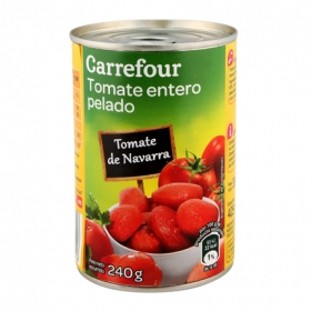 Tomate natural pelado Carrefour 390 g.