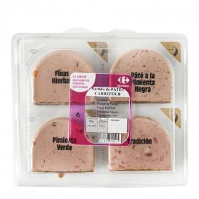 Surtido patés Carrefour pack de 4 unidades de 55 g