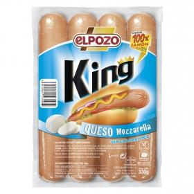Salchichas queso mozzarella King El Pozo sin gluten 330 g.