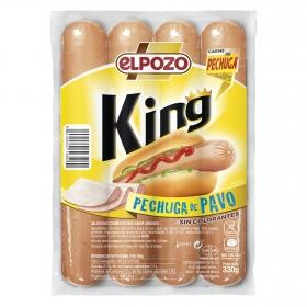 Salchichas pechuga de pavo King El Pozo sin gluten 330 g.