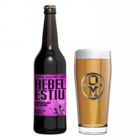 Cerveza artesana Ordio Minero Rebel Estiu Bohemian Pilsner botella 33 cl.