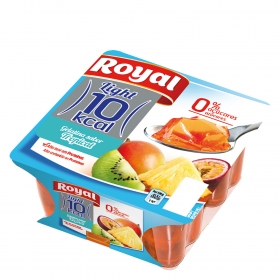 Gelatina sabor tropical Royal pack de 4 unidades de 100 g.