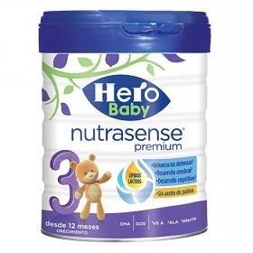 Leche en polvo crecimiento Nutrasense Premium 3 Hero Baby 800 g.