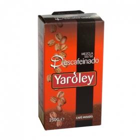 Café molido mezcla descafeinado Yaroley 250 g.