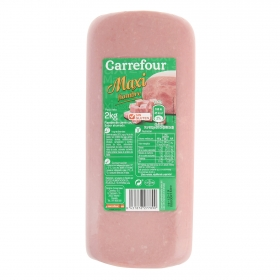 Fiambre cocido pieza sabor ahumado Carrefour sin gluten 2 Kg.