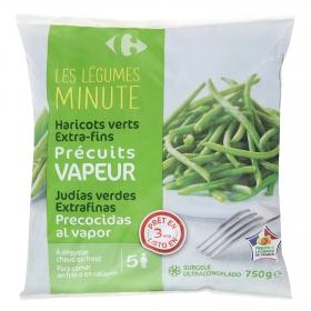 Judías verdes extra finas Carrefour 750 g.