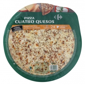 Pizza fresca cuatro quesos Carrefour 400 g.