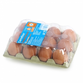 Huevos M Carrefour 12 ud