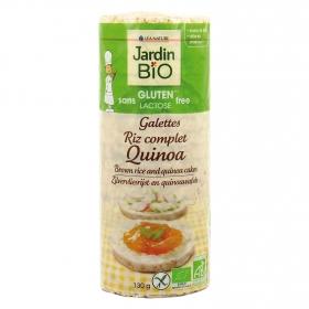 Tortitas de arroz y quinoa ecológicas Jardin Bio sin gluten 130 g.