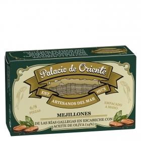 Mejillones en escabeche con aceite de oliva 6/8 Palacio de Oriente 68 g.