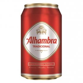 Cerveza Alhambra tradicional lata 33 cl.