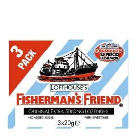 Caramelos Fisherman´s Friend 3 paquetes de 20 g.