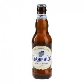 Cerveza Hoegaarden blanca de trigo botella 33 cl.