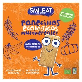Panecillos de cereales con plátano y calabaza ecológicos Smileat sin gluten 60 g.