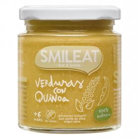 Tarrito de verduras con quinoa ecológico Smileat sin gluten 230 g.