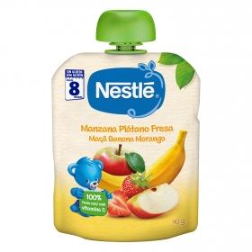 Preparado de manzana, plátano y fresa Nestlé sin gluten 90 g.