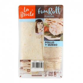 Flauta pollo/queso La Broche 260 g.