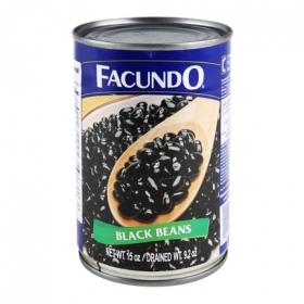 Frijol negro cocido Facundo 425 g.
