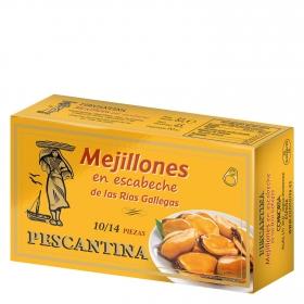 Mejillones de las rías gallegas en escabeche Pescantina 45 g.
