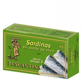 Sardinas en aceite de oliva Pescantina 84 g.