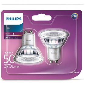 Pack de 2 Bombillas Classic Led Philips 50W  GU10