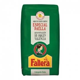 Arroz grueso La Fallera para paella categoría extra 1 kg.