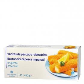 Varitas de pescado Producto blanco 450 g.