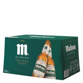 Cerveza Mahou Clásica pack de 24 botellas de 25 cl.