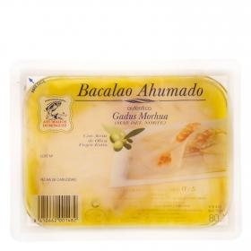 Bacalao ahumado en aceite Ahumados Domínguez 80 g..