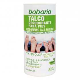 Talco desodorante para pies aloe Babaria 100 ml.