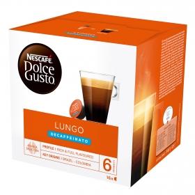 Café lungo descafeinado en cápsulas Nescafé Dolce Gusto 16 unidades de 7 g.