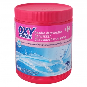 Quitamanchas en polvo Oxi Power Carrefour 1 kg.