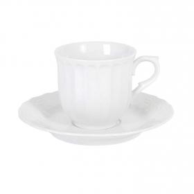 Set de 2 Taza té de Porcelana SANTA CLARA Sevilla 25x16cm - Blanco