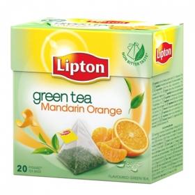 Té verde de mandarina y naranja en bolsitas Lipton 20 ud.