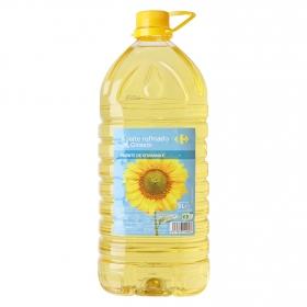 Aceite de girasol Carrefour garrafa 1 l.