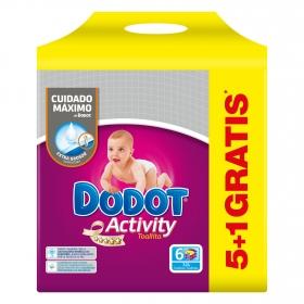 Toallitas Dodot Activity pack de 6 paquetes de 54 ud.