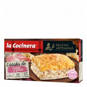 Lasaña de jamón y queso La Cocinera 530 g.