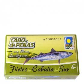 Filetes de caballa del sur en aceite de oliva virgen extra ecológicos Cabo de Peñas 53 g.