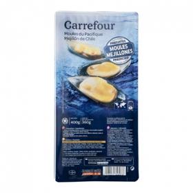 Mejillón media concha Carrefour 400 g.