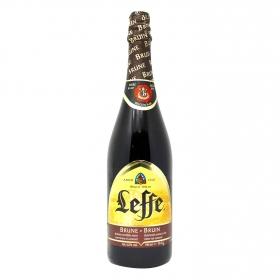 Cerveza Leffe Brune belga botella 75 cl.