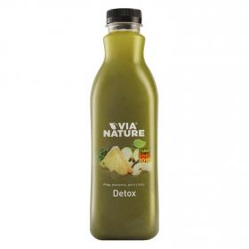 Zumo de piña, manzana,pera y kale Via Nature Detox botella 1 l.