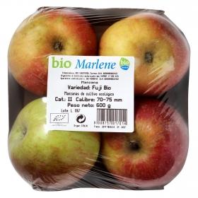 Manzana fuji ecológica bandeja 4 ud 600 g