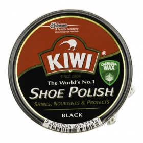 Crema para calzado color Negro Kiwi 50 ml.