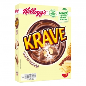 Cereales con chocolate blanco