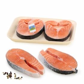 Rodaja salmón recién envasado CYO