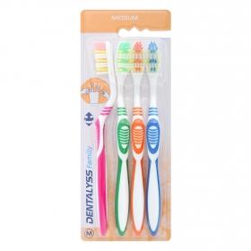 Cepillo dental medio Carrefour 4 ud.