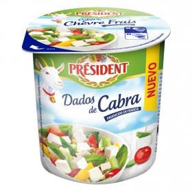 Dados de queso de cabra President 120 g.