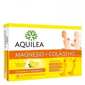 Magnesio + Colágeno Vitaminas y minerales Aquilea 30 comprimidos.