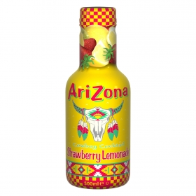 Limonada Arizona sabor fresasin gas botella 50 cl.