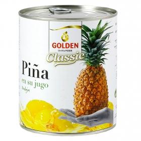 Piña en rodajas en su jugo natural Golden 490 g.